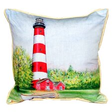 Chincoteague Lighthouse Indoor/Outdoor Lumbar Pillow