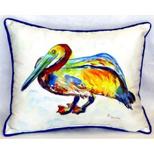 Gertrude Pelican Indoor/Outdoor Lumbar Pillow