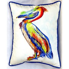 Sylvester Pelican Indoor/Outdoor Pillow