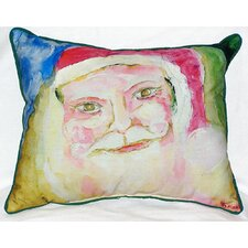 Santa Face Indoor/Outdoor Throw Pillow