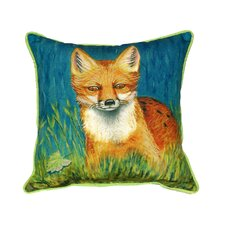 Red Fox Indoor/Outdoor Throw Pillow
