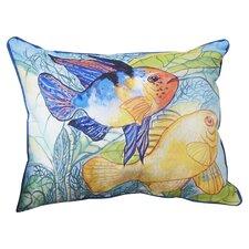 Coastal Two Fish Indoor/Outdoor Lumbar Pillow
