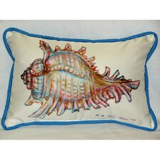 Herry Up Coastal Conch Shell Indoor/Outdoor Lumbar Pillow