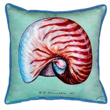 Nautilus Indoor/Outdoor Throw Pillow