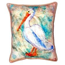 Herry Up Pelican on Rice Indoor/Outdoor Lumbar Pillow