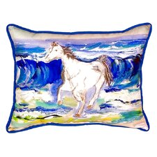 Horse and Surf Indoor/Outdoor Lumbar Pillow