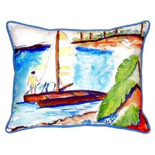 Today Sale Only Catamaran Indoor/Outdoor Lumbar Pillow
