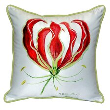 Red Lily Indoor/Outdoor Throw Pillow