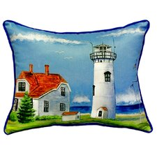 Chatham MA Lighthouse Indoor/Outdoor Lumbar Pillow