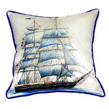 Whaling Ship Indoor/Outdoor Throw Pillow
