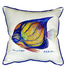 Ring Angelfish Indoor/Outdoor Throw Pillow