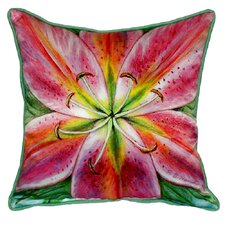 Pink Lily Indoor/Outdoor Throw Pillow