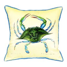 Crab Female Indoor/Outdoor Throw Pillow
