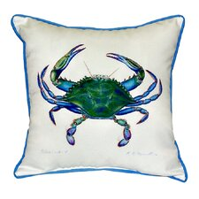Crab Male Indoor/Outdoor Throw Pillow