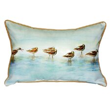 Avocets Indoor/Outdoor Lumbar Pillow