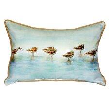 2017 Coupon Avocets Indoor/Outdoor Lumbar Pillow