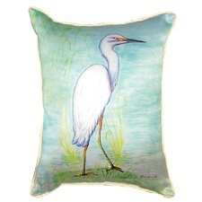 Find Snowy Egret Indoor/Outdoor Lumbar Pillow
