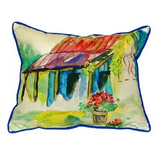 Barn and Geranium Indoor/Outdoor Lumbar Pillow