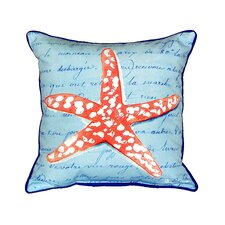 Coral Starfish Indoor/Outdoor Throw Pillow