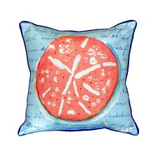 Coral Sand Dollar Indoor/Outdoor Throw Pillow