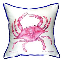 Pink Crab Indoor/Outdoor Throw Pillow