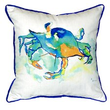 Orange Crab Indoor/Outdoor Throw Pillow