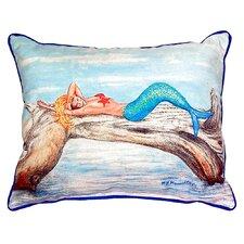 Mermaid on Log Indoor/Outdoor Lumbar Pillow