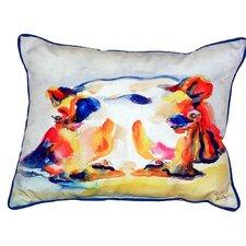 Hippo Indoor/Outdoor Lumbar Pillow