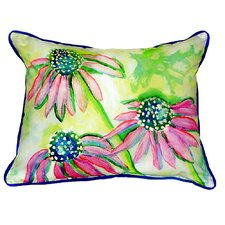 Conch Cone Flowers Indoor/Outdoor Lumbar Pillow
