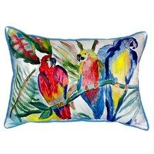 Parrot Family Indoor/Outdoor Lumbar Pillow