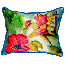 Lighthouse and Florals Indoor/Outdoor Lumbar Pillow