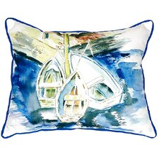 Three Row Boats Indoor/Outdoor Lumbar Pillow