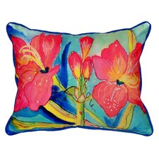 Pink Amaryllis Indoor/Outdoor Lumbar Pillow