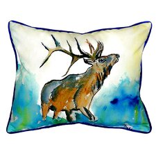 Lodge Elk Indoor/Outdoor Lumbar Pillow