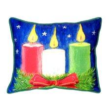 Christmas Candles Indoor/Outdoor Lumbar Pillow
