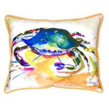 Sale Crab Indoor/Outdoor Lumbar Pillow