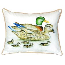 Mallard Family Indoor/Outdoor Throw Pillow