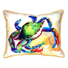 Crab Indoor/Outdoor Lumbar Pillow