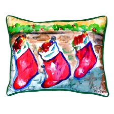 Christmas Stockings Indoor/Outdoor Lumbar Pillow
