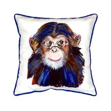 Chimpanzee Indoor/Outdoor Throw Pillow