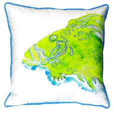 Fish Indoor/Outdoor Throw Pillow