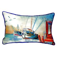 Shrimp Boat Indoor/Outdoor Lumbar Pillow