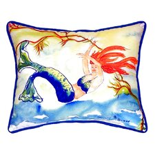 Resting Mermaid Indoor/Outdoor Lumbar Pillow