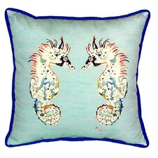 Sea Horses Indoor/Outdoor Euro Pillow