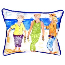 Grandma at the Beach Indoor/Outdoor Lumbar Pillow