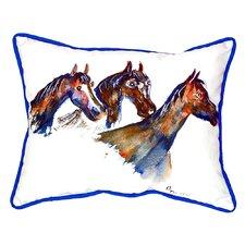 Three Horses Indoor/Outdoor Lumbar Pillow