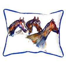 Three Horses Indoor/Outdoor Lumbar Pillow