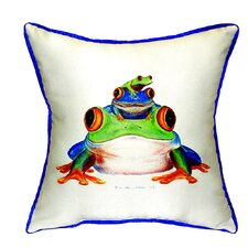 Stacked Frogs Indoor/Outdoor Throw Pillow