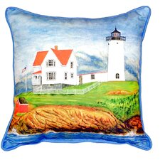 Nubble Lighthouse Indoor/Outdoor Lumbar Pillow