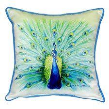 Fresh Peacock Indoor/Outdoor Throw Pillow